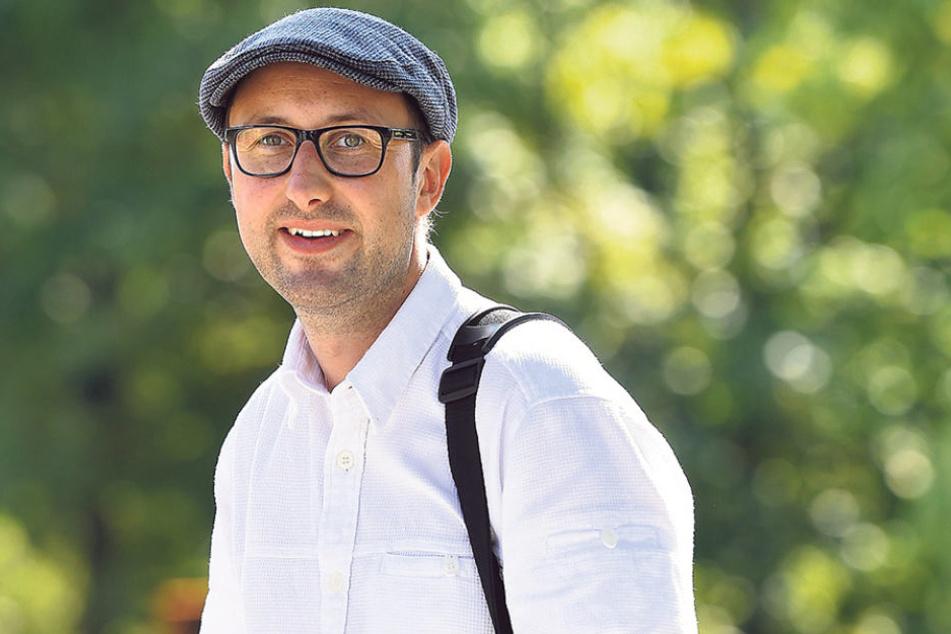 """Mathias Körner (38) kämpft seit Jahren um die Gorbitzer """"Ostmoderne""""."""