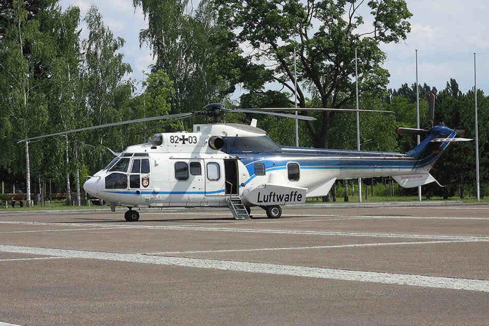 Krachmacher: Die Kaserne verfügt über einen Hubschrauber-Landeplatz.