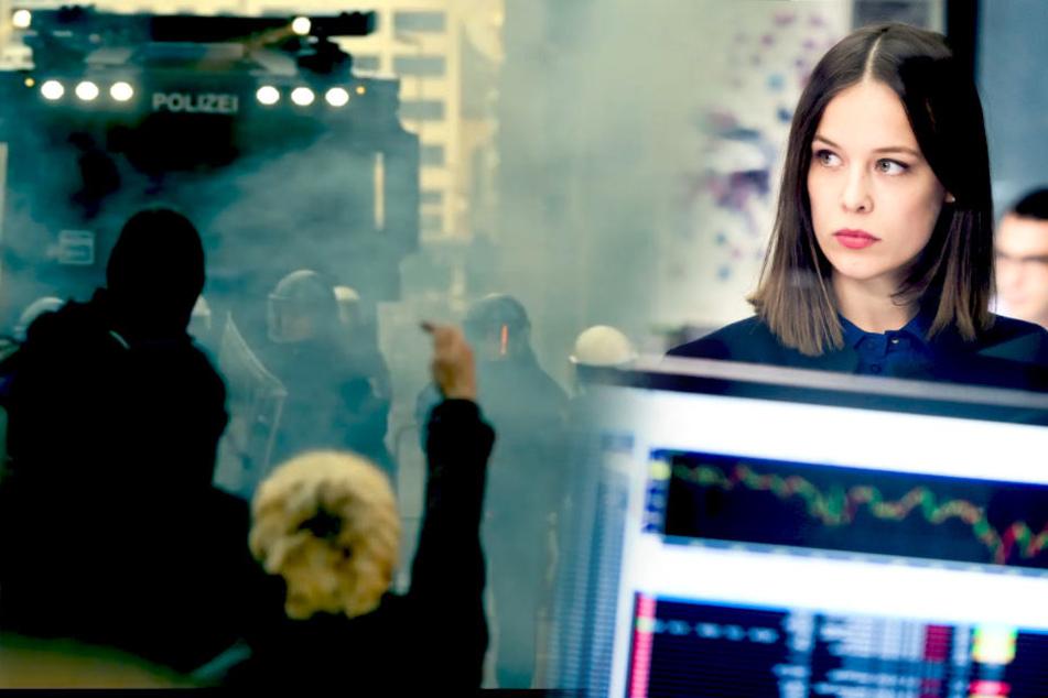 Ein Filmroman in der futuristischen Kulisse der Bankenwelt Frankfurts und Luxemburgs. Paula Beer ist die Protagonistin der Serie.