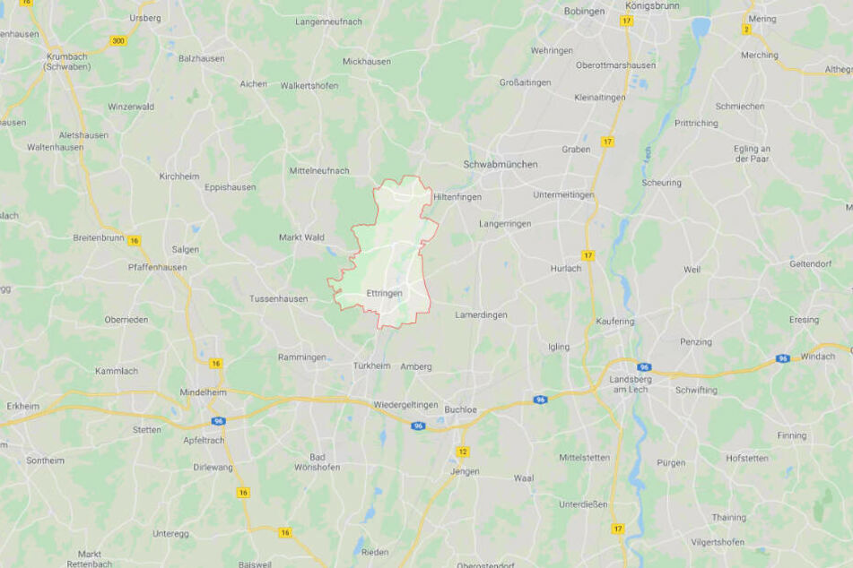 Der Vorfall ereignete sich in Ettringen im schwäbischen Landkreis Unterallgäu.
