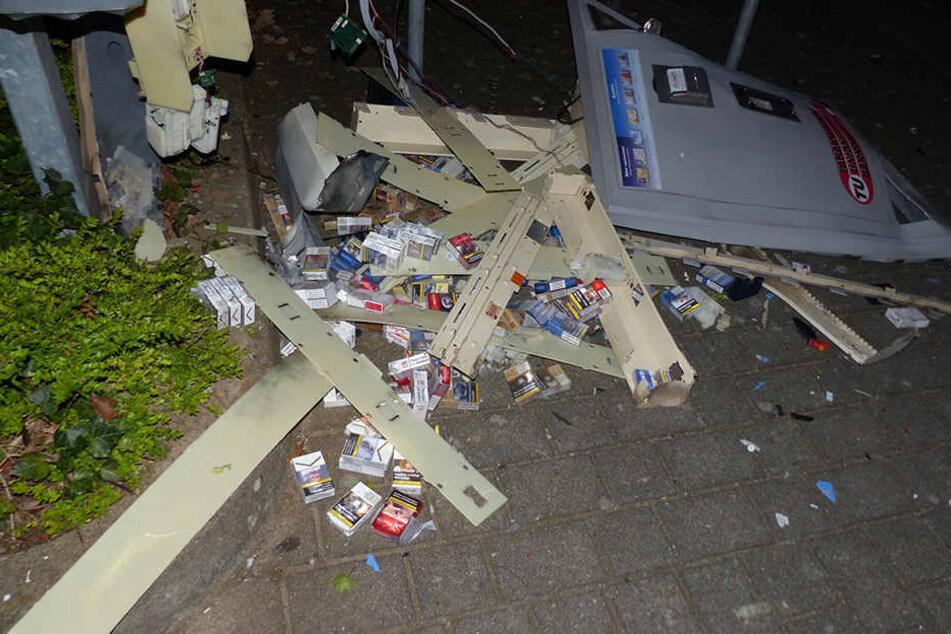 Schon wieder wurde ein Zigarettenautomat in Minden aufgesprengt. Diesmal an der Fachhochschule.