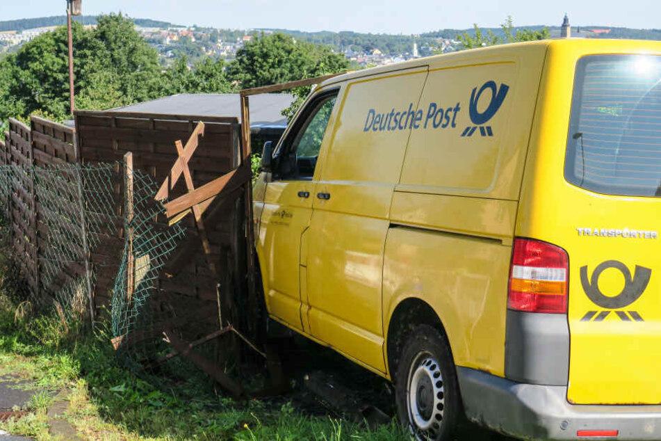So ähnlich könnte es ausgesehen haben, als sich in Nordhausen ein Postauto selbständig machte und die Gegend verwüstete.
