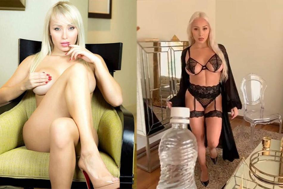 Bottle-Cap-Challenge: Wie öffnet dieses Playboy-Model wohl die Flasche?