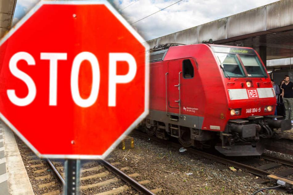 Die Bahnstrecke Dresden-Leipzig ist aktuell gesperrt. (Symbilbild, Bildmontage)