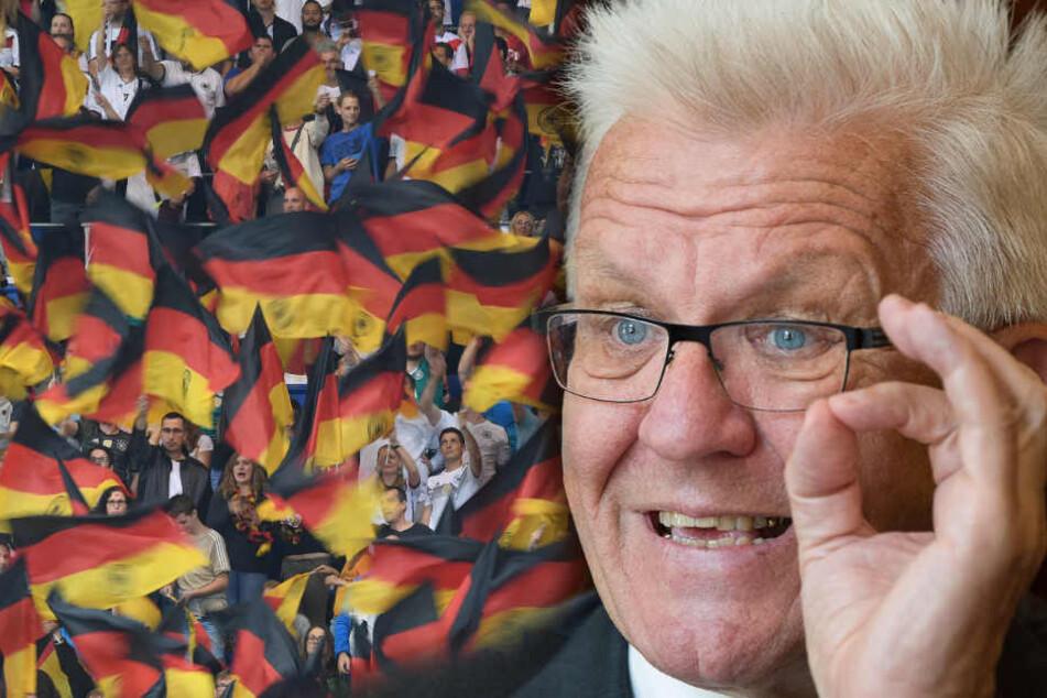 Baden-Württembergs Ministerpräsident Winfried Kretschmann (70, Grüne): Mit Patriotismus deutsche Fachkräfte zurück in die Heimat lotsen.