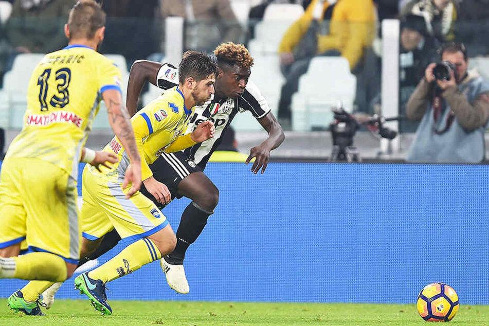 Moise Kean (hinten-rechts) debütierte für Juventus Turin schon mit 16 Jahren.