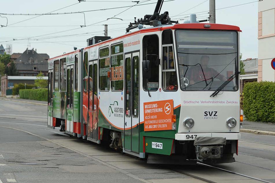 Kontrolleure erwischen den Schwarzfahrer in einer Zwickauer Straßenbahn. (Archivbild)