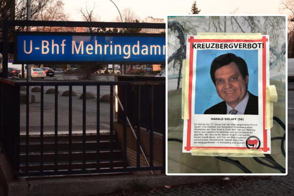 Rund um den Mehringdamm wurden Flugblätter der Antifa verteilt. CDU-Politiker Harald Sielaff hat nun offenbar Kreuzbergverbot.
