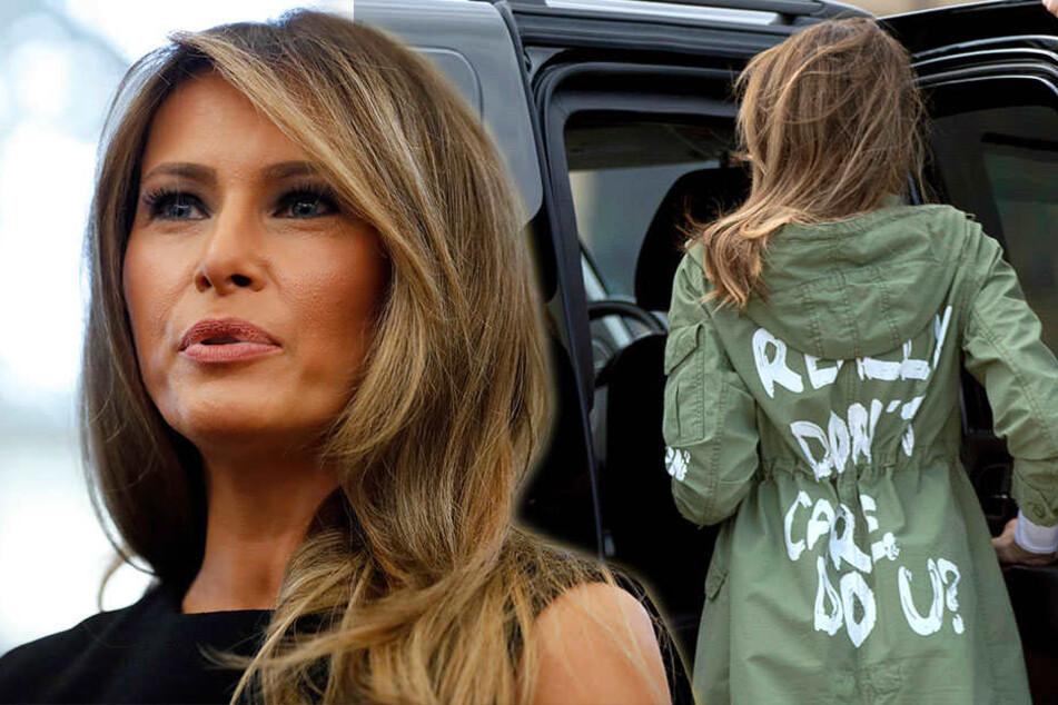 """""""Mir doch egal!"""" Was will uns Melania Trump mit dieser Jacke sagen?"""