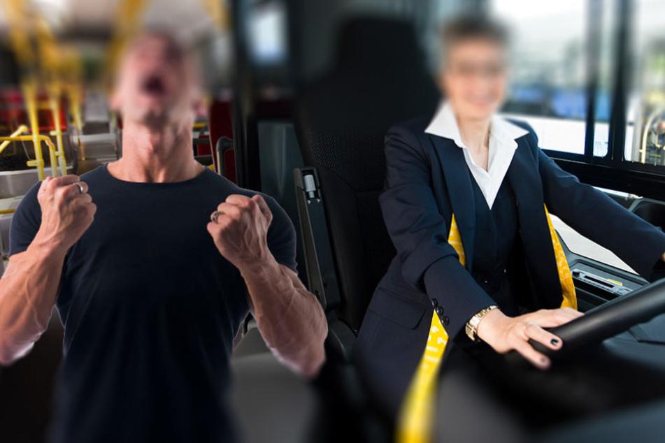 Als der Fahrgast nicht aufhört zu schreien, schreitet der Busfahrer ein. (Symbolbild)