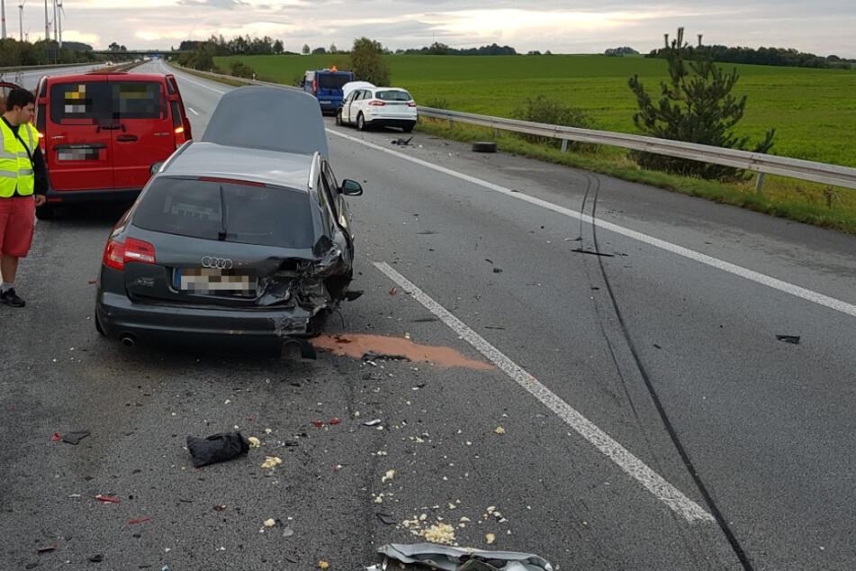 An dem Unfall waren vier Fahrzeuge beteiligt.