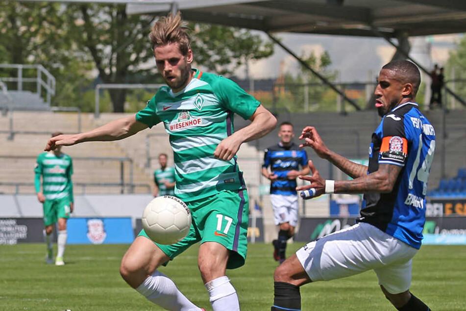 In den vergangenen zwei Jahren kickte Justin Eilers - wenn er denn nicht verletzt war - für die Bremer Reserve in der 3. Liga.