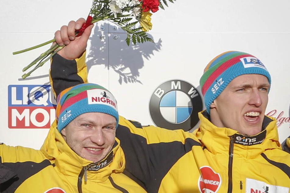 Francesco Friedrich (li.) hatte zuletzt schon einen neuen Rekord im Weltcup aufgestellt, als er mit Torsten Margis alle sechs Zweierrennen gewonnen.