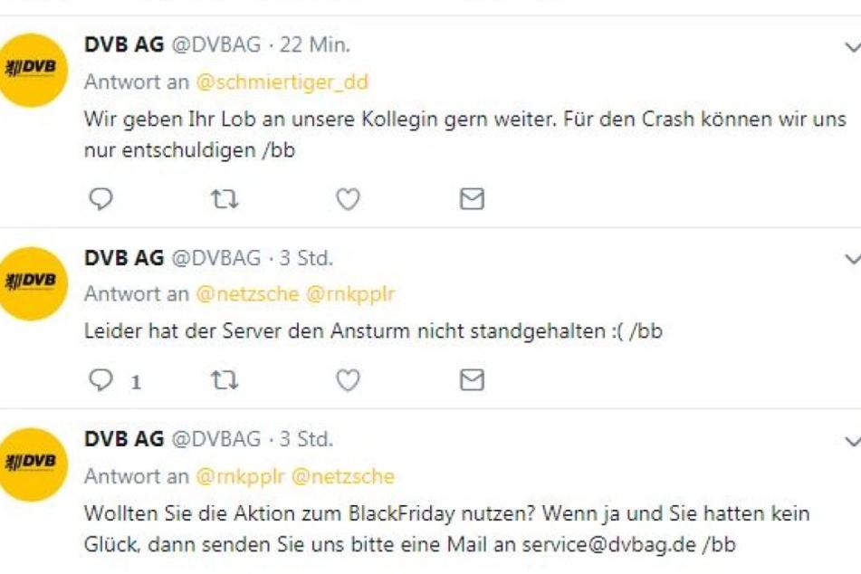 Am Morgen entschuldigten sich die DVB und versprachen den Enttäuschten Hilfe.