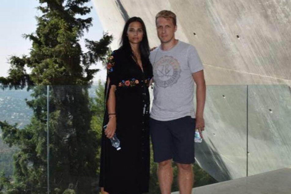 Oliver Pocher (41) und Amira Aly (26) in der Gedenkstätte Yad Vashem.