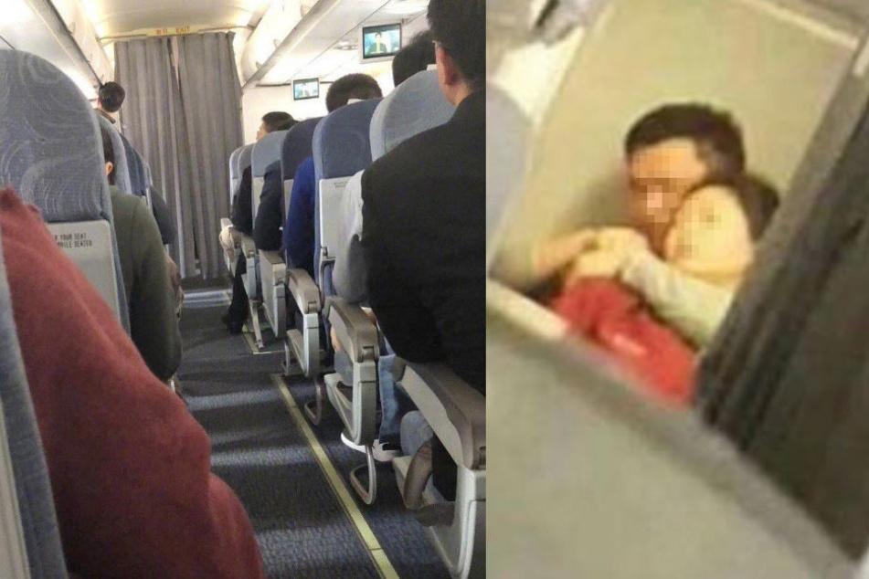 Der man brachte die Stewardess in seine Gewalt.