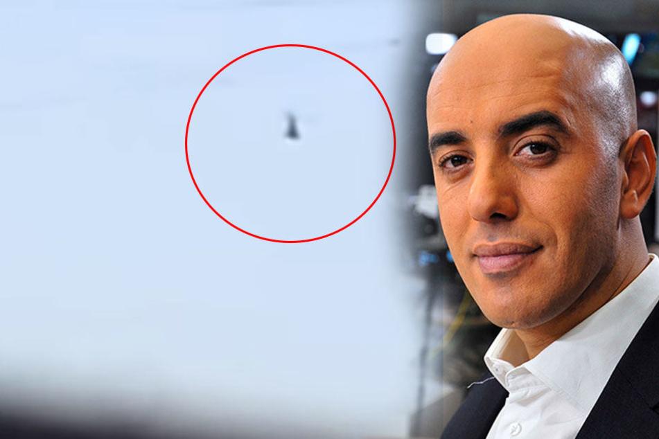 In diesem Hubschrauber fliegt der Häftling Redoine Faid davon.