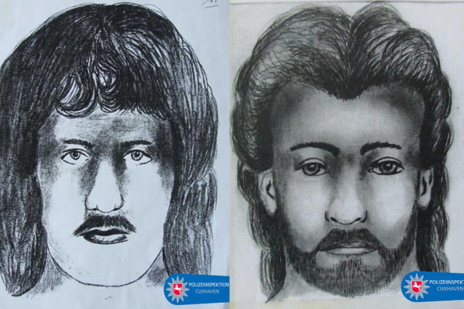 Mit den beiden Phantombilder sucht die Polizei nach dem Mörder. Das linke zeigt den Verdächtigen von 1992, das rechte den von 1993. (Fotomontage)