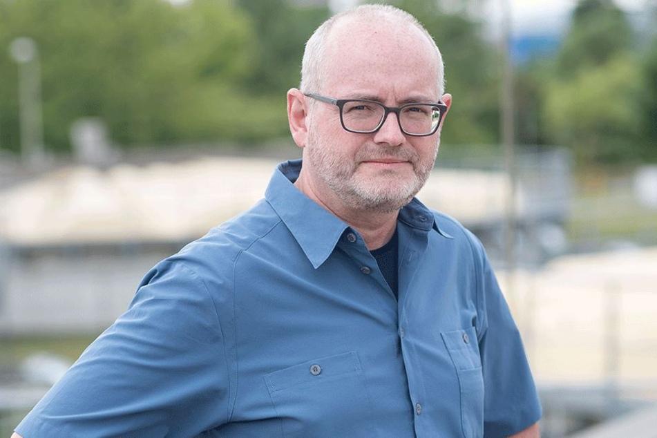 """Kläranlagenchef Gert Bamler (53) leitet auch die Projektgruppe """"Geruch"""" der Stadtentwässerung."""