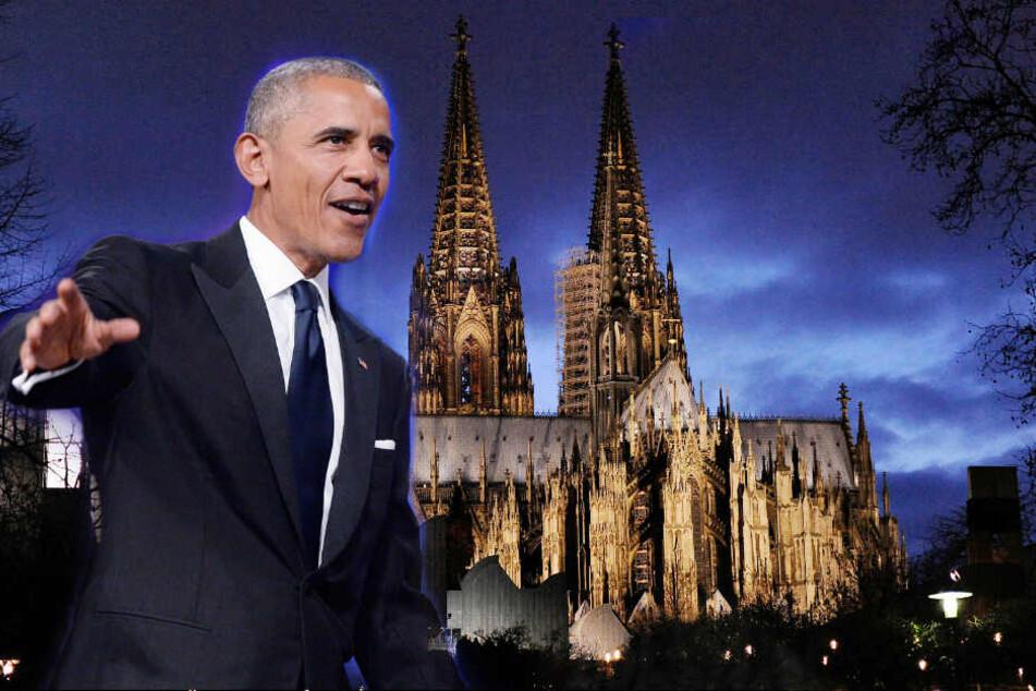 Der ehemalige US-Präsident Barack Obama wird am Donnerstag in Köln erwartet.