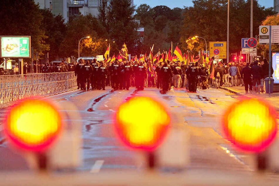 Die Ereignisse in Chemnitz im August 2018 hatten die Sicherheitsbehörden in Alarmbereitschaft versetzt.