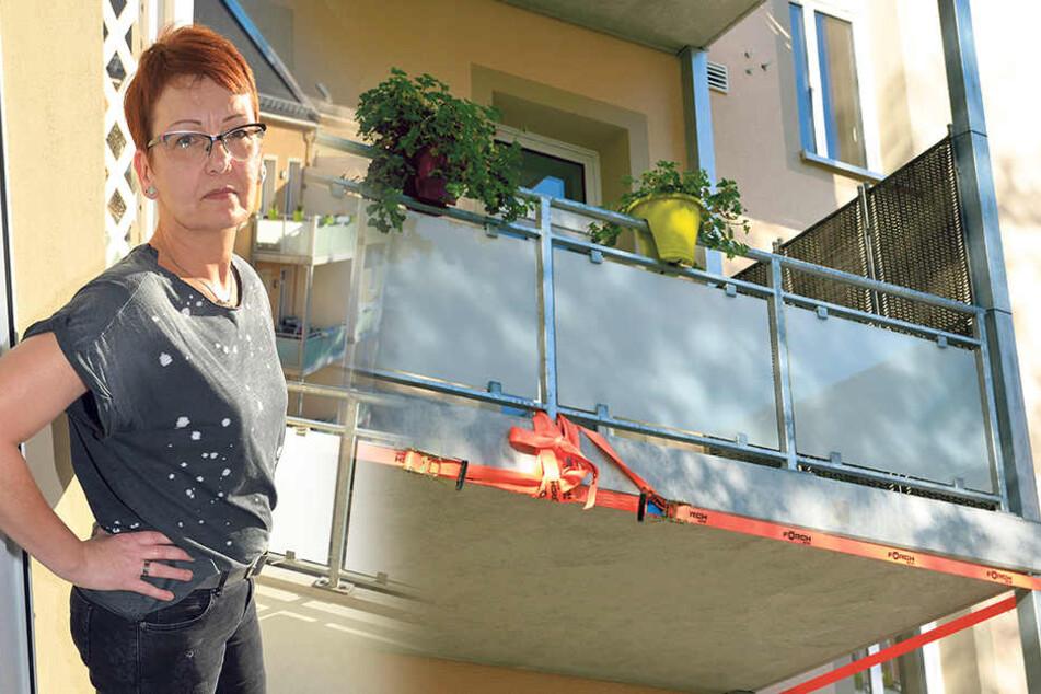 Absturzgefahr! Chemnitzer GGG muss Balkone sperren