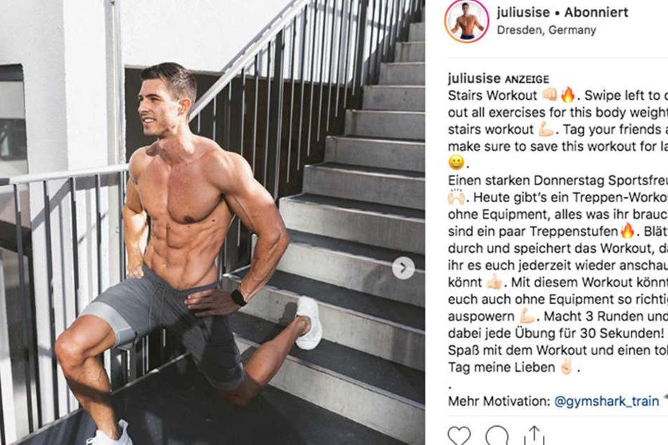 Julius ist heiß und mit jeder Menge Muskeln bepackt.