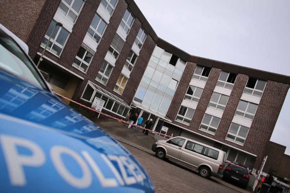 In diesem Gebäude wurde eine Frau von dem Amokläufer getötet.
