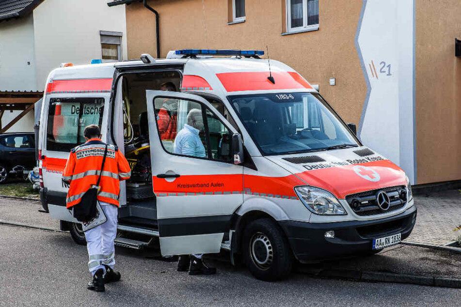 Die Rettungskräfte sind vor Ort.