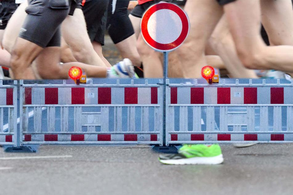 Aufgrund des 16. Mitteldeutschen Marathons kommt es in Leipzig am Sonntag zu Verkehrsbehinderungen. (Fotomontage)