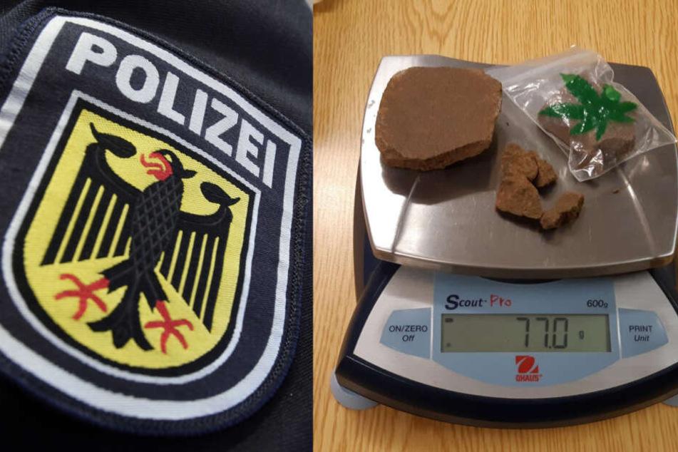 77 Gramm Cannabis entdeckten die Beamten bei dem verirrten Raucher.