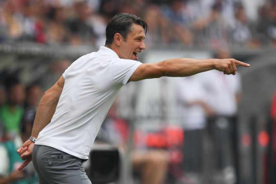 Trotz Anweisungen von Eintracht-Coach Niko Kovac gelang seinen Spielern nicht mehr der Ausgleich.