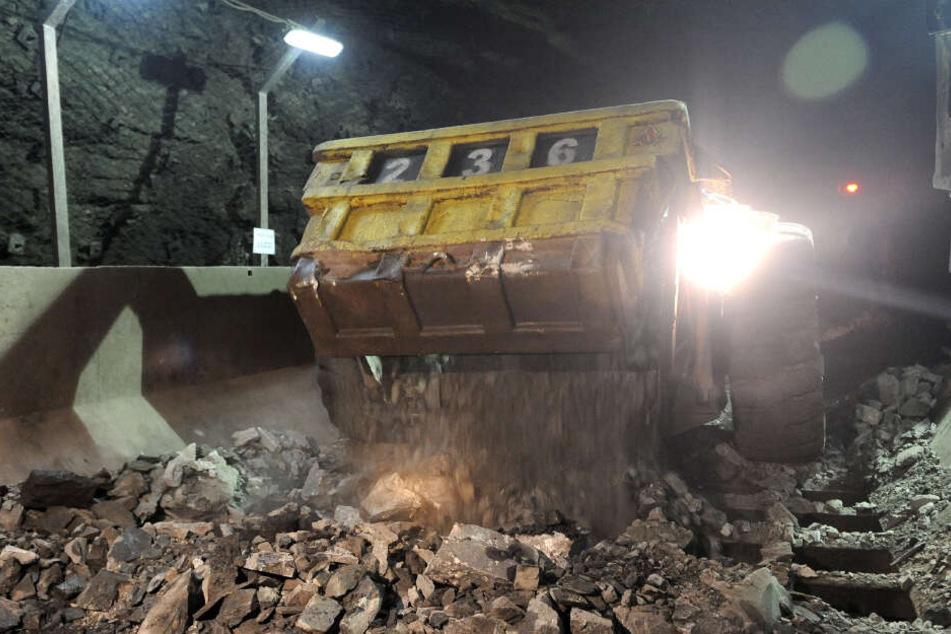 Eine Aufnahme aus dem Inneren der Mine vom Oktober 2012.