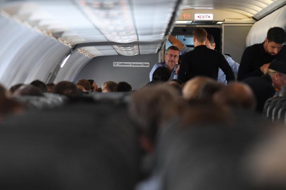 Das Foto zeigt das Flugzeug kurz vor dem Abflug aus Moskau.