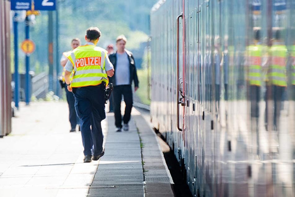 Durch das schnelle Vorgehen des Bahnpersonals konnte der Mann niemanden im Zug verletzen. (Symbolbild)