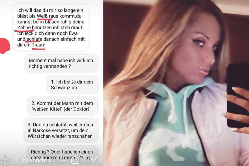 Die Fotomontage zeigt zwei Screenshots aus dem Instagram-Profil von Schwesta Ewa.