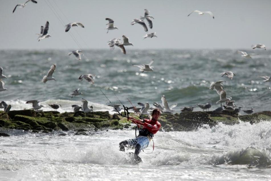 Der deutsche Kitesurfer Sebastian Bubmann bewies schon 2009 beim Kitesurf Worldcup vor Westerland auf der Nordseeinsel Sylt sein Können in der Welle.