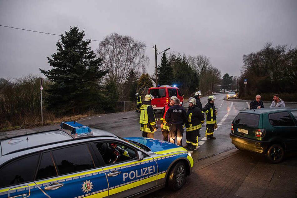 Feuerwehr und Polizei rückten an.