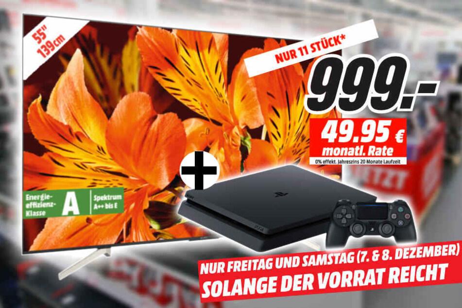 55 Zoll UHD-Fernseher holen und PlayStation 4 gratis dazubekommen!
