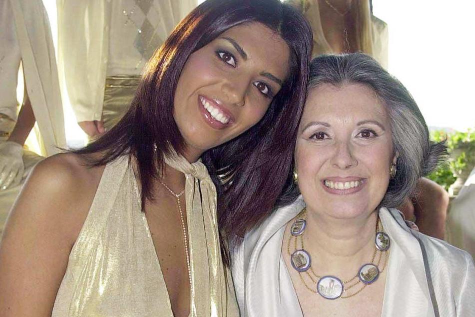 Laura Biagiotti (re.) mit ihrer Tochter Lavinia.