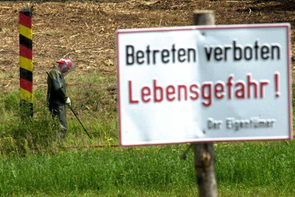 Immer wieder werden auf dem Gelände Munitionsreste gefunden. (Symbolbild)