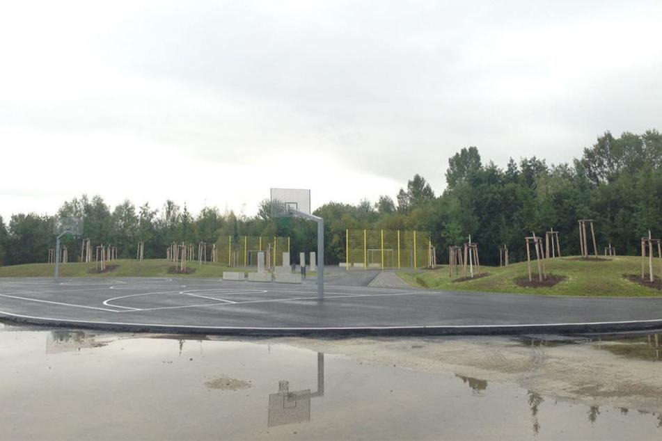 Hier soll nach der Eröffnung am Freitag Paunsdorfs Jugend zusammenkommen.