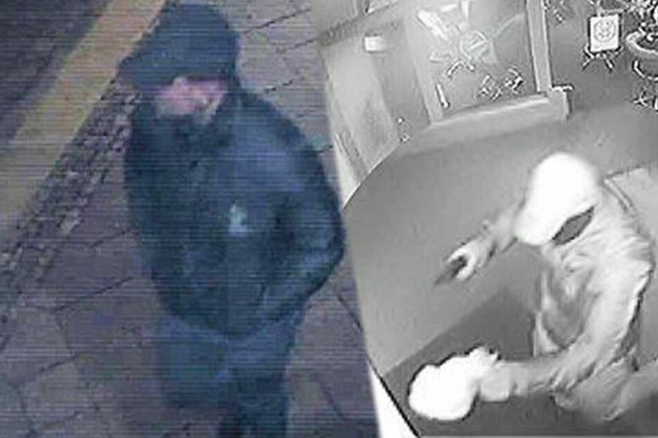Nach dem Überfall auf die Spielothek in Leipzig-Neulindenau sucht die Polizei mit diesen Bildern nach dem Täter.