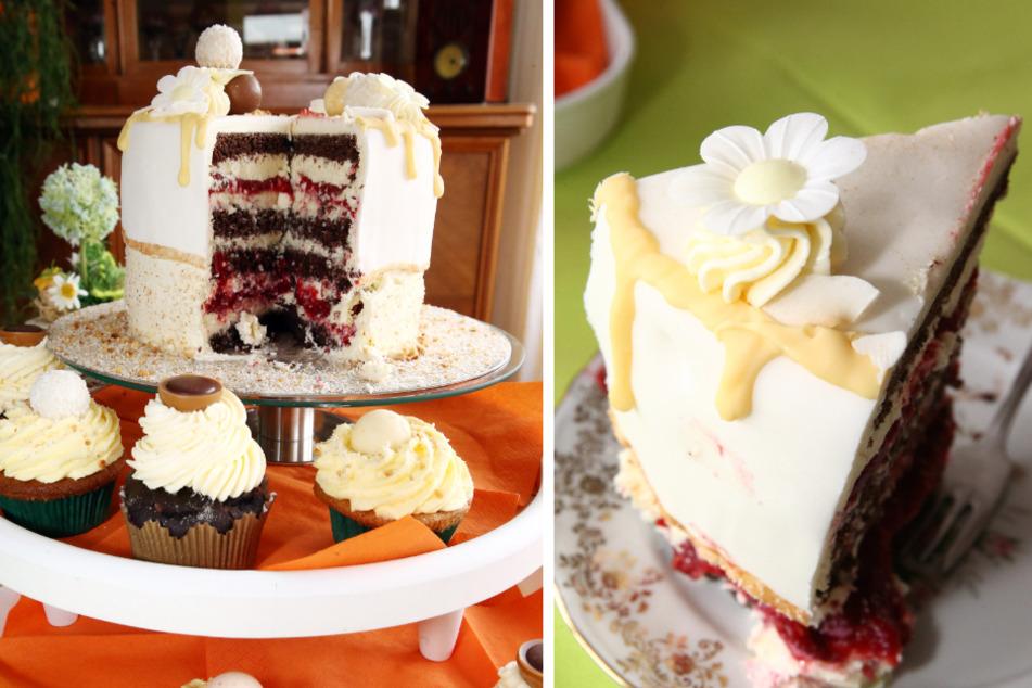 Man kann entweder ständig Kalorien zählen oder es sich schmecken lassen. Bei dieser Torte fällt die Entscheidung leicht (F.l.). Der Hammer! Mehr Schichten als diese Torte hat auch die Erde nicht.