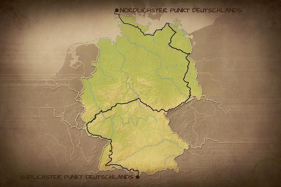 Diese Route legte der Leipziger zu Fuß zurück.