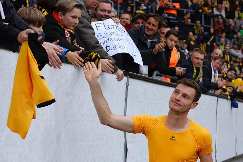 Florian Ballas hat die besten Zweikampfwerte aller Dynamospieler.