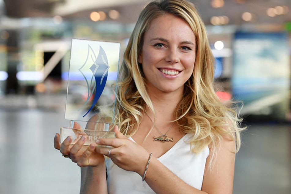 Lisa Zimmermann (21) bei der Verleihung des Bayerischen Sportpreises.