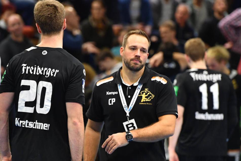 Elbflorenz-Trainer Christian Pöhler (r.) war bitter enttäuscht.