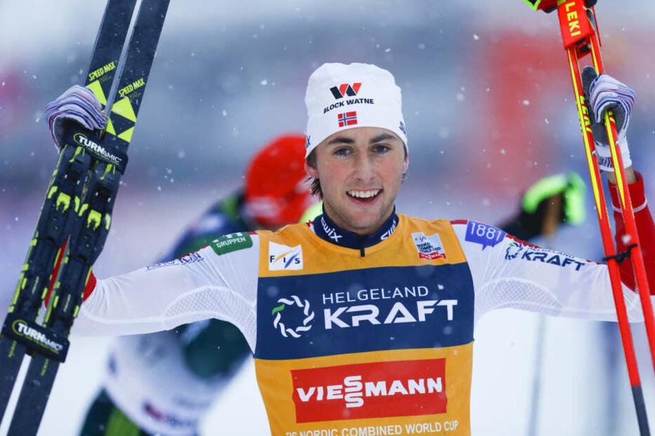 Serientäter: Der Norweger Jarl Magnus Riiber gewann in dieser Saison bereits acht Weltcups. In Klingenthal soll Nummer 9 her.