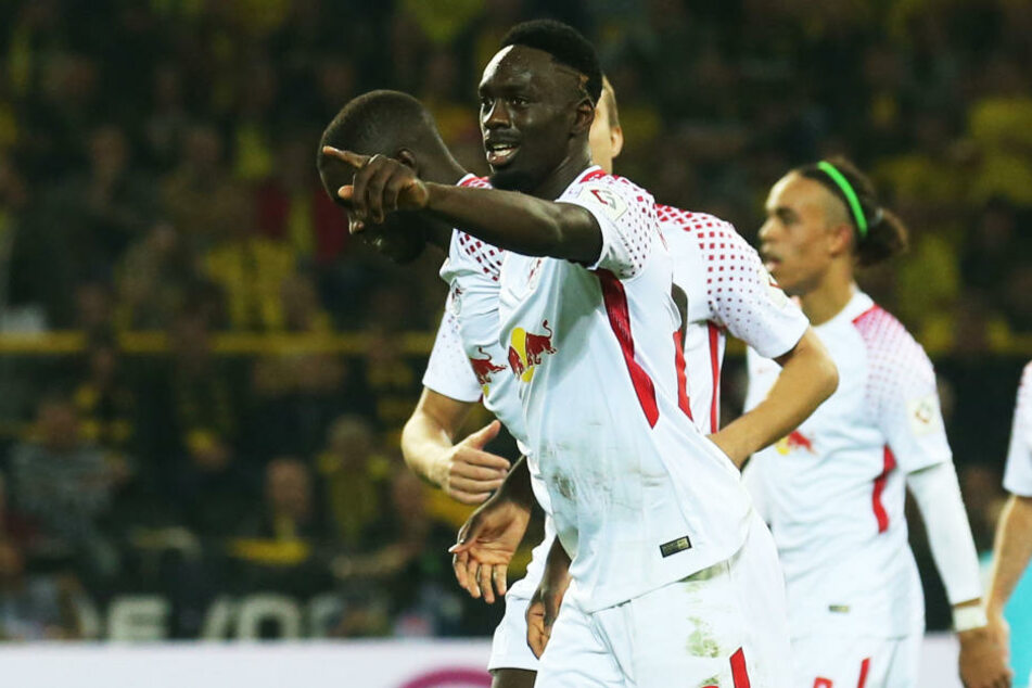 Jean-Kevin Augustin erzielte per Foulelfmeter das zwischenzeitliche 3:1 für RB Leipzig.